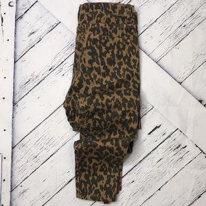 ZARA WOMAN Leopard Print Skinny Jeans sz 8
